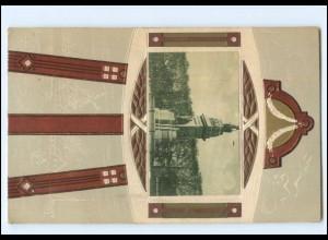Y18264/ Den Haag schöne Prägedruck Passepartout AK Niederlande 1912