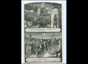 Y18337/ Hamburg Bürgermeisterwahl in Wandsbek 1912 AK