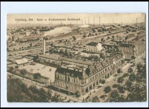 V1212/ Böhmen Oderberg Bahnhof Spar- und Konsumverein Drahtwerk 1917 AK