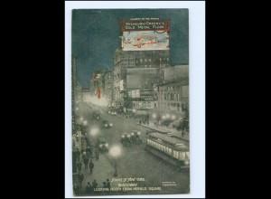 Y18253/ Night in New York Broadway AK 1911 USA