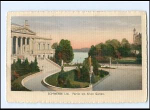 V1190-19./ Schwerin Partie am Alten Garten 1919 AK