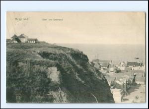 V1210/ Helgoland Ober- und Unterland 1909 AK