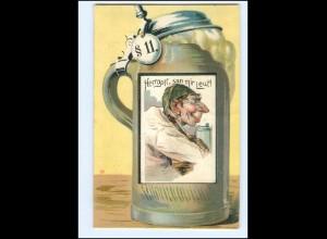 V1069/ Bier Bierkrug Litho AK 1912