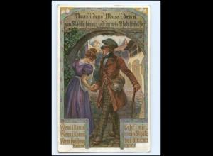 Y18255/ Verein für das Deutschtum im Ausland Volksliederkarte AK 1913