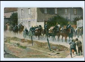 Y18256/ Artillerie rückt ins Quartier Soldaten 1908 AK