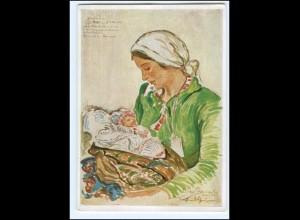 """Y18241/ VDA AK Jungbäuerin mit Kind aus Galizien """"Vom großen Treck"""" ca.1938"""