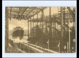 XX11818/ Stapellauf Dampfer Bismarck in Hamburg Werft Blohm & Voss AK