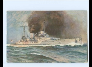 XX11821/ Deutscher Kriegerbund AK S.M.S. Moltke Marine Kriegsschiff 1917