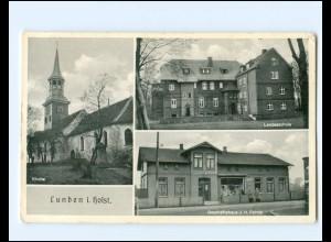 XX11789/ Lunden Kirche Landesschule Geschäftshaus Rohde AK