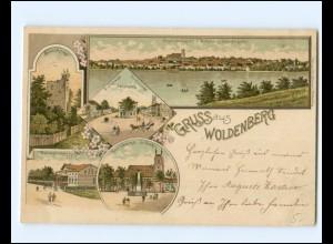 XX13983/ Gruß aus Woldenberg Dobiegniew Neumark Litho AK 1898