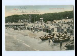 XX11791-18./ Göhren Strand beim Familienbad 1906 AK