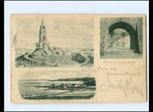 XX12083/ Gruß vom Knivsberg-denkmal Ostsee-Insel Kalö Nordschlsewig AK 1901