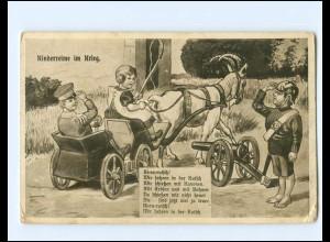 Y18345/ Kinderreime im Krieg Ziegenkutsche 1. Weltkrieg AK 1917