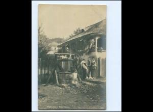 Y18354/ Rumänien Bauernhaus Foto AK 1918