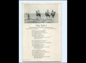 Y18358/ Heia Safari ! Marschlied der Deutschen Afrika-Kämpfer Lieder AK ca.1940