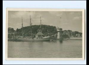 V1163/ Segelschulschiff Niobe bei Kiel Foto AK 1928