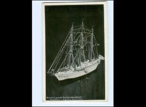 V1323/ Modell von Segelschulschiff Niobe Hergestellt von A. Hof, Moers AK