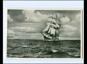 V1167/ Segelschulschiff Niobe passiert Cuxhaven AK ca.1930