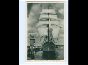 V1311/ Segelschulschiff Niobe in Kiel AK ca.1930