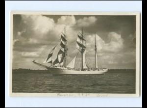 V1318/ Segelschulschiff Niobe geht in die See bei Kiel Foto AK 1930