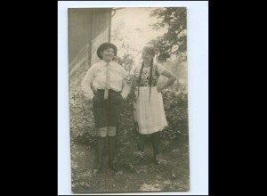 Y18366/ Zwei junge Frauen Foto Ak ca.1920