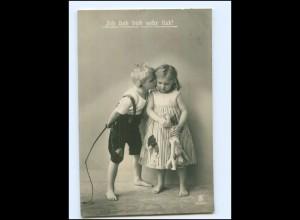Y18412/ Kinder mit Puppe Foto AK 1911
