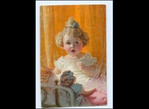 Y18429/ Mädchen mit Puppe Künstler AK 1923