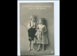 Y18413/ Kinder mit Puppe Foto AK 1911