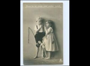 Y18414/ Kinder mit Puppe Foto AK 1911