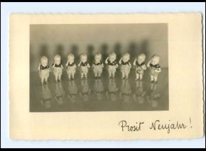Y18416/ Puppen Neujahr Foto AK ca.1935