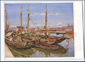 DP464/ Hafen von Bordeaux Prof. A. Janesch AK Verlag: H. Hoffmann 1940 WK2