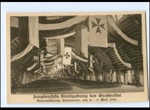 V1392/ Braunschweig - Hannover Jungdeutsche Kundgebung der Großballei 1926 AK