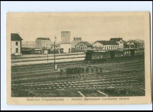 V1423/ Bahnhof Baroncourt bei Verdun AK 1916