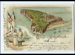 Y18456/ Gruß aus Helgoland Litho AK 1903