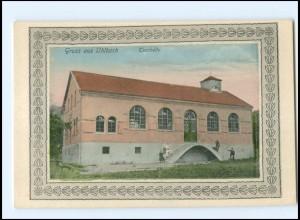 V1437/ Uhbach bei Stuttgart Turnhalle AK ca.1910