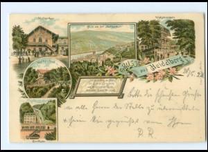 Y18451/ Gruß aus Heidelberg Litho AK 1899