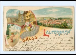 Y18448/ Gruß aus Lauterbach Litho AK 1904