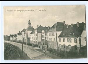 V1477/ Karlsruhe Kaserne des Telegraphen-Bataillon IV. AK ca.1910