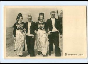 Y18513/ Nordfrisische Jugend Trachten Foto AK ca.1935