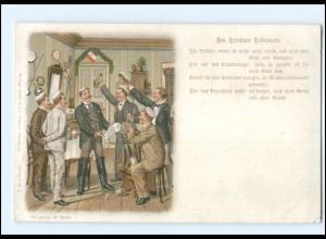Y18485/ Studenten Studentika Des Trinkers Testament - Litho Ak ca.1900