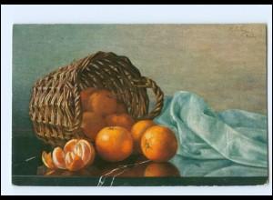 Y18481/ Stilleben Obst Apfelsinen AK 1911