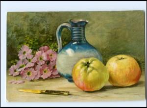 Y18472/ Stilleben Obst Äpfel Litho Ak 1906