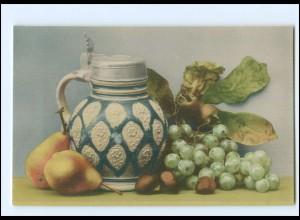 Y18476/ Stilleben Weintrauben Weinkrug Ak ca.1912
