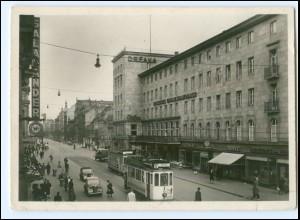 V1360/ Mannheim Heidelbergerstr. Planken Straßenbahn Foto AK ca.1940