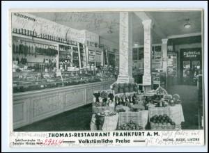 V1365/ Frankfurt M. Thomas Restaurant Schillerstr. 15 AK 1930