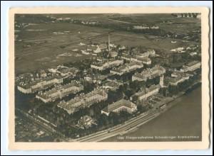 V1369/ München Schwabinger Krankenhaus Luftbild Foto AK 1934
