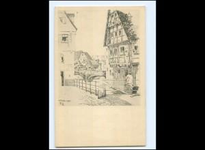 """V1490/ Ulm a.d. Donau Architekten-Vereinigung """"Wiener Bauhütte"""" AK 1911"""
