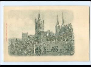 V1383/ Gruß aus Wimpfen Reliefdruck AK ca.1900