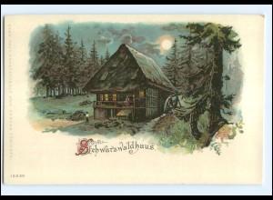 Y18467/ Schwarzwaldhaus schöne Litho AK ca.1900