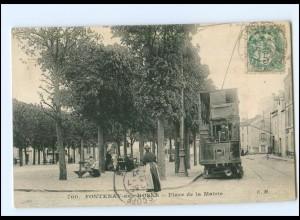 XX12069/ Fontenay-aus-Roses Place de la Mairie Trameay Straßenahn AK 1907 -922-